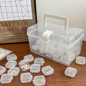 PVC防氧化透明塑料收纳盒便携大容量防尘盒子项链耳饰整理首饰盒