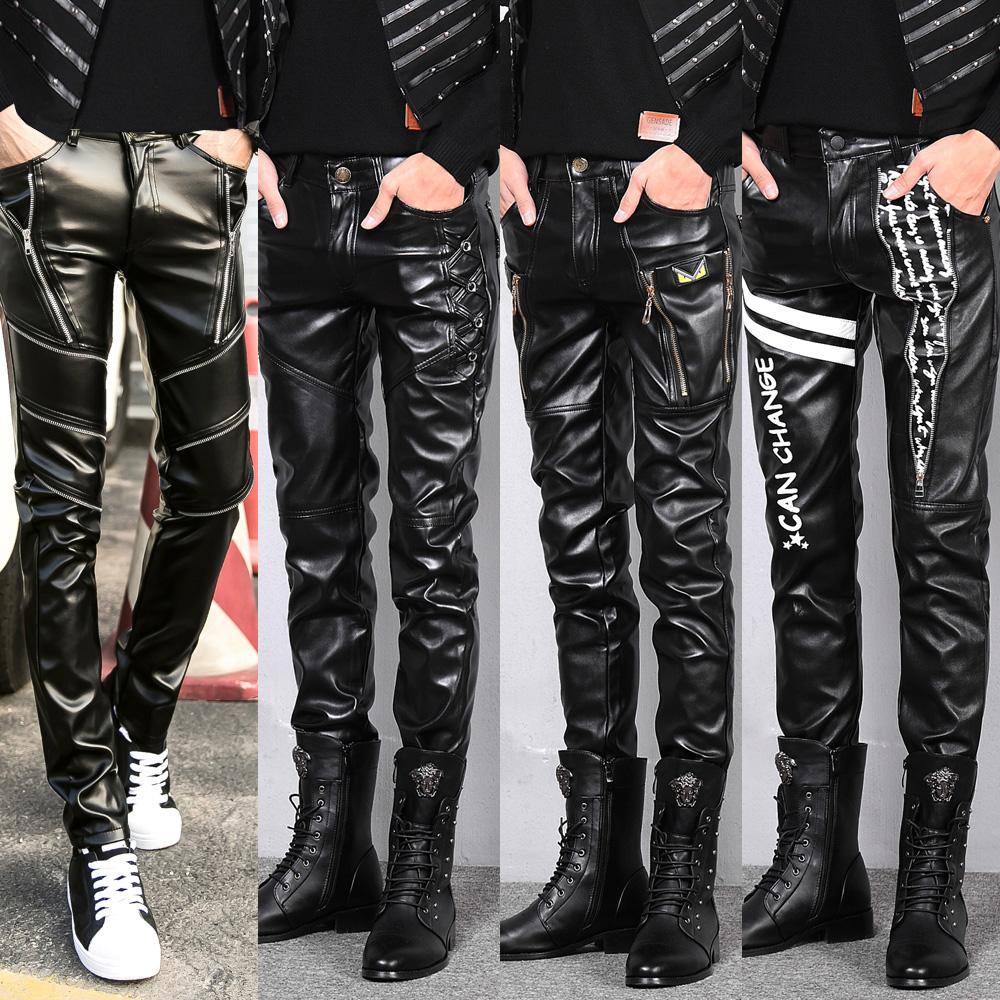 Кожаные брюки Артикул 560963617292