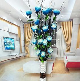 叶之脉仿真干花客厅落地摆件假花束