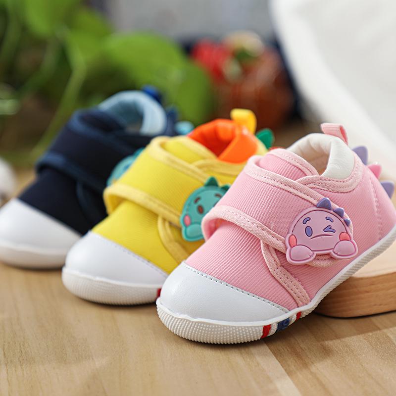 软底防滑学步不掉跟小童女婴儿鞋子