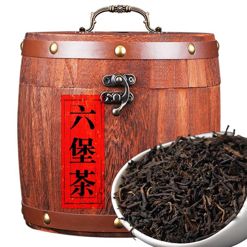 正品广西六堡茶去湿梧州特级六宝茶黑茶八年陈香送礼茶叶500g克