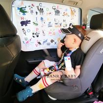 banrybaby韩国夏季防紫外线动物水果图案宝宝认知遮阳帘车窗帘