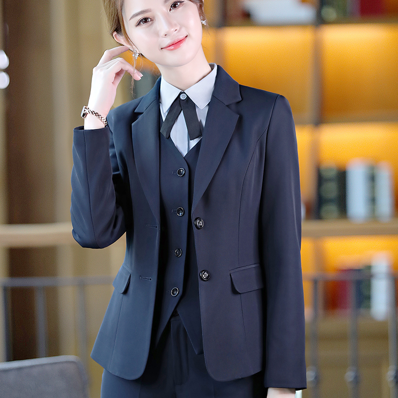 Five piece suit womens spring and autumn professional dress college student union conference 2018 fashion interview frock