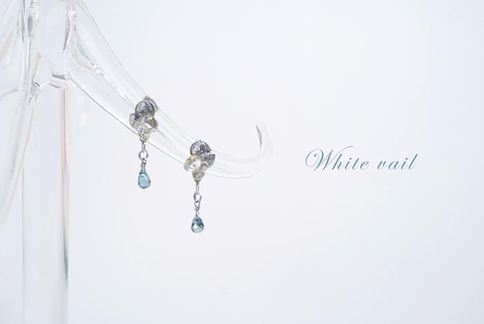 【海之泪】日本京都手工无痛耳夹天然水晶宝石简约