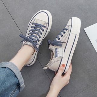 秋季厚底帆布鞋女2020年新款爆款流行韩版ulzzang百搭休闲板鞋子