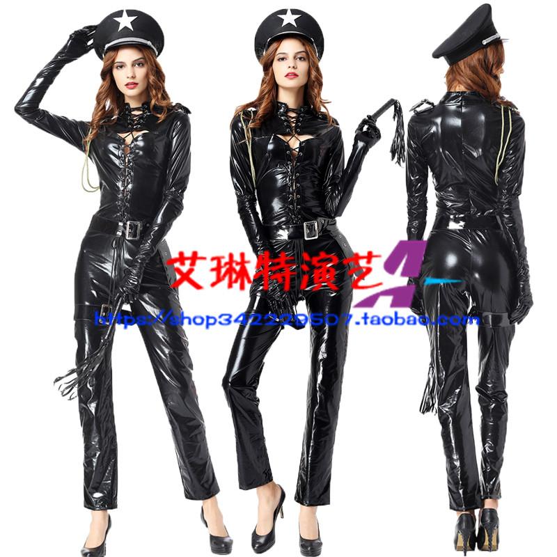 万圣节男女警服装制服诱惑角色扮演女警装酒吧夜店派对ds演出服装