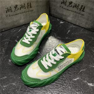 夏季新款迷彩网面鞋低帮休闲学生鞋小白鞋潮流男鞋韩版百搭透气网