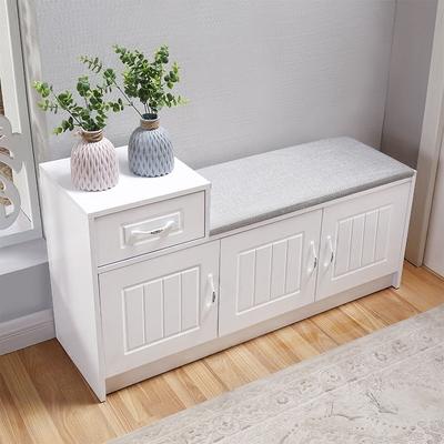 门口换鞋凳穿鞋凳鞋柜简约现代欧式白换鞋凳储物凳实木烤漆沙发凳
