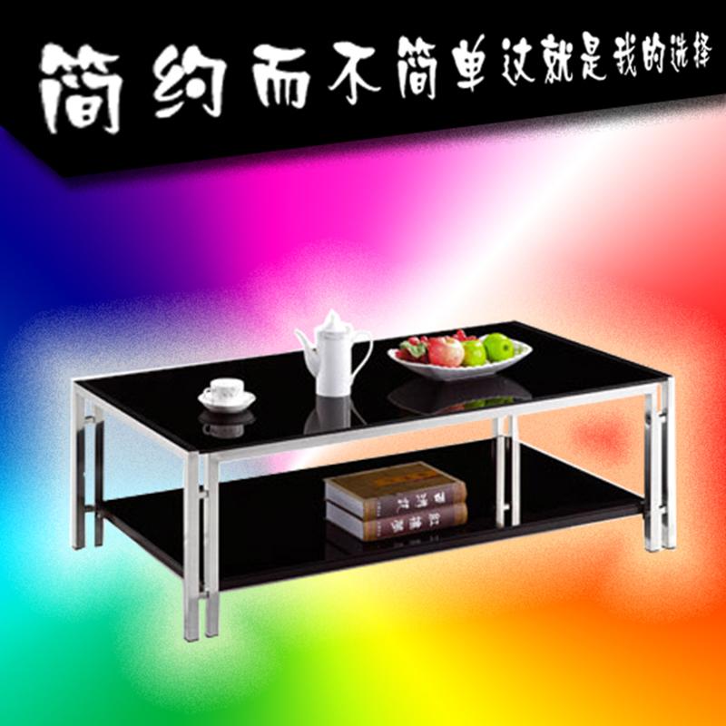 Кофейный столик офис кофейный столик просто мода нержавеющей стали закалённое стекло может пассажир подключать подожди гостиная офис комната кофейный столик
