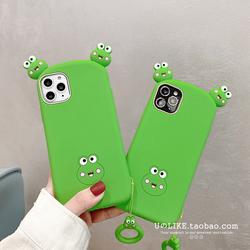 趴趴可爱青蛙适用苹果XS/11proMax手机壳iPhone7/8plus软硅胶6/XR
