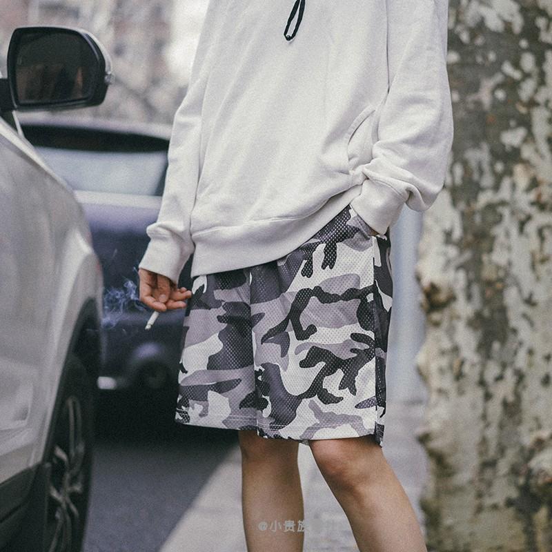 714street Mesh Shorts网格休闲短裤男透气花卉迷彩女款沙滩裤子图片