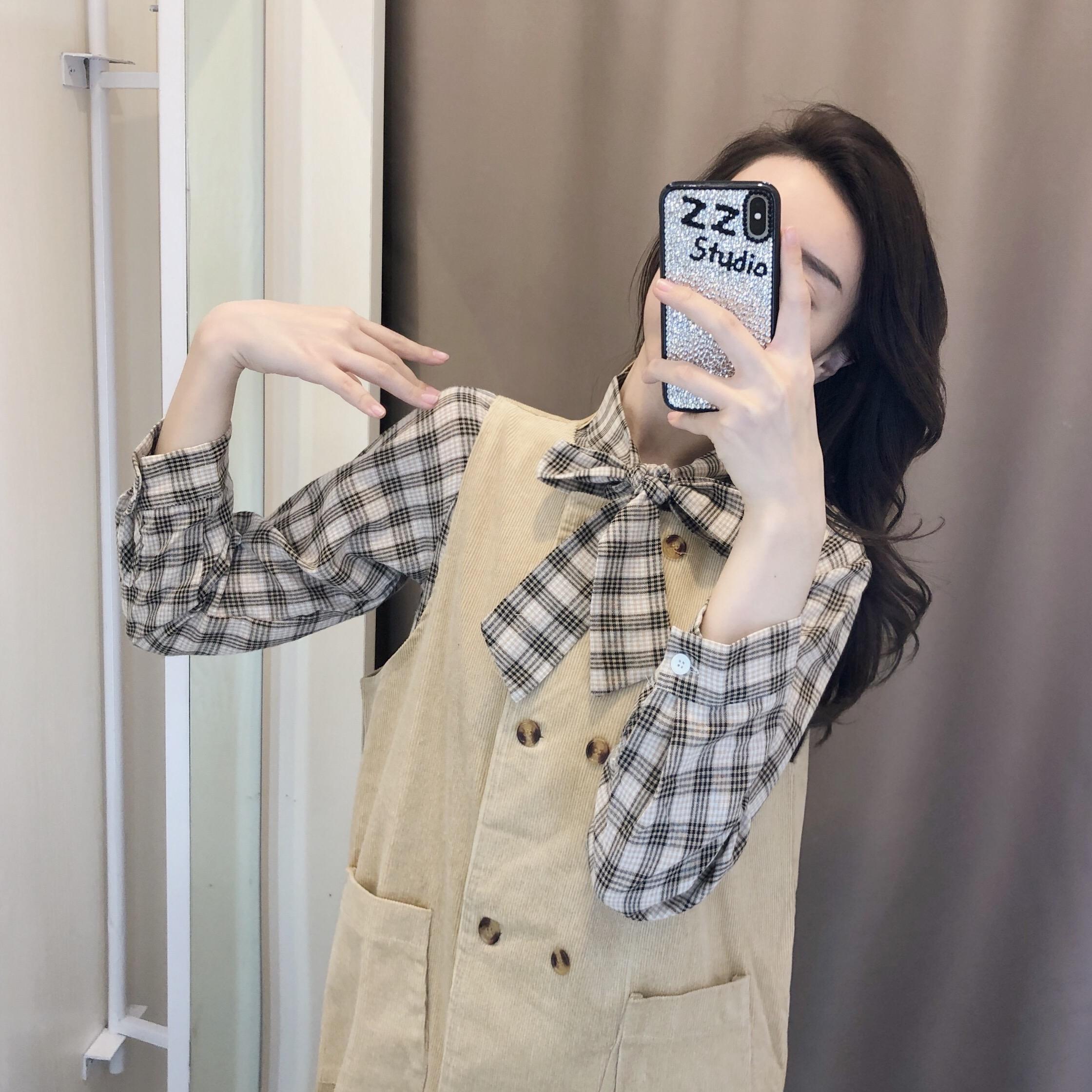 (用10元券)矮个子套装女2019新款秋季小香风时尚两件套洋气欧货秋装欧洲站