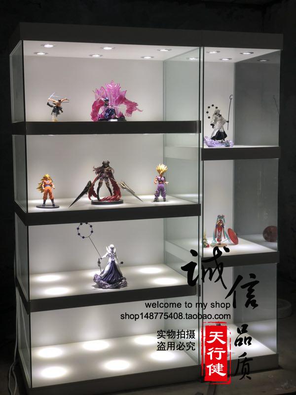 北京定做手办雕像动漫展柜玩具收藏品展柜高达模型gk柜奖杯柜货架