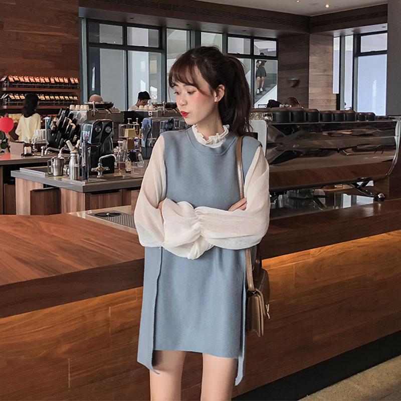 11-08新券高冷范女装成熟气质学生风连衣裙子