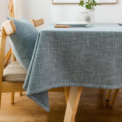 北欧纯色桌布布艺棉麻简约小清新长方形亚麻台布日式餐桌布茶几布
