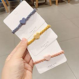 悠家韩国基础糖果色爱心亚克力镂空皮筋好弹力扎马尾皮筋发绳头绳图片