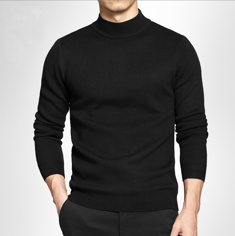 Semi turtleneck sweater mens Pullover Sweater autumn winter slim net red sweater medium neck sweater large base coat
