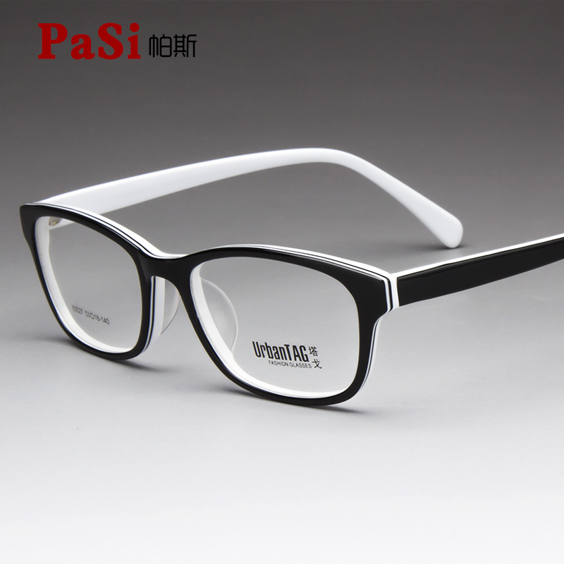 Plate full frame spectacle frame for mens myopia large frame spectacle frame for women black and white Presbyopia mirror finished optical degree
