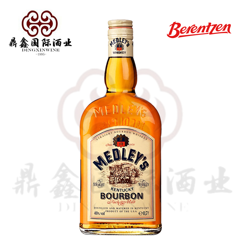 美国原装进口 MEDLEY'S/万德利肯塔基纯正波本威士忌700ml