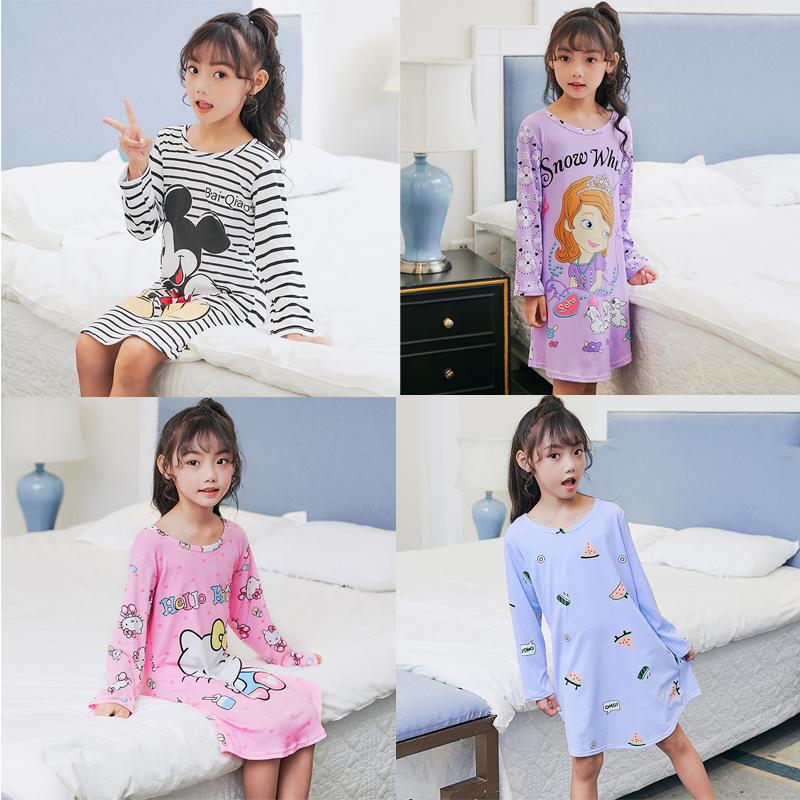 58批佰俏儿新款牛奶丝儿童睡衣B-长裙8-18码10.5元B-长裙系列