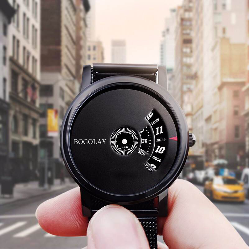 Black technology pointless wormhole concept watch mens simple cool waterproof net red student trend creative Watch