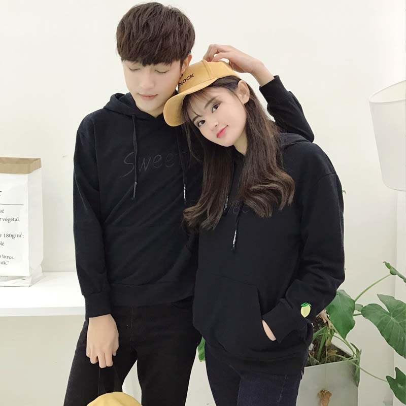 Solid spring thin Pullover Hoodie mens and womens large Terry single layer sports Hoodie couple Hoodie