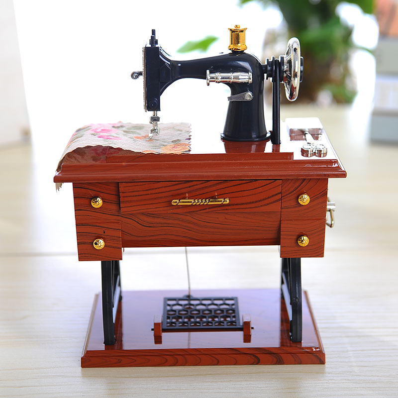 Классическая мини шить машинально музыкальная шкатулка мебель музыка модель коробка пластик украшение любители подарок день рождения фестиваль церемония
