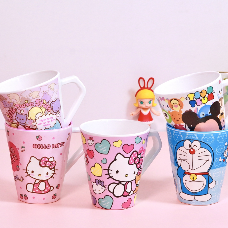 Cartoon cute melamine toothbrush cup childrens baby household toilet mouthwash cup wash cup drink water cup