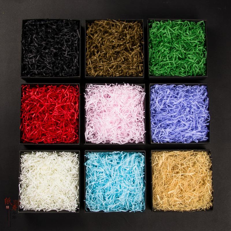 礼物盒拉菲草丝礼盒填充物拉菲草纸碎纸丝创意生日礼品盒配件