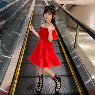 女童連衣裙2020新款夏裝兒童裝裙子夏季小女孩網紅公主裙韓版洋氣