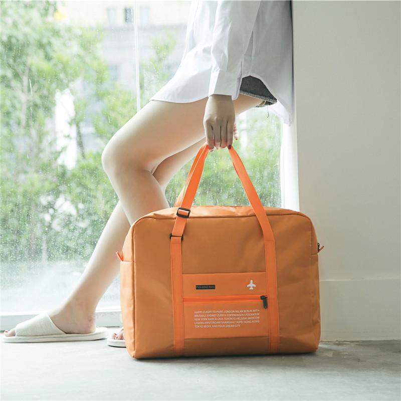 Путешествие чистый черный мешок большой потенциал портативный из разница ридикюль складные одежда разбираться путешествие род коробки багаж пакет