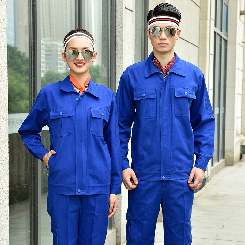 Road and bridge construction autumn and winter long sleeve supervision engineering uniform factory workshop mechanical mold processing Porter
