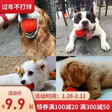 Dog toy supplies pet large dog training ball bite-resistant molars Jin Mao Demu puppies side animal play ball