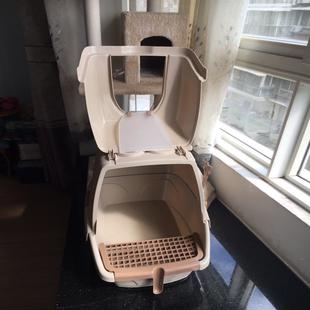 猫砂盆全封闭式大号防外溅猫厕所超大号特大除臭猫沙防溅猫咪用品