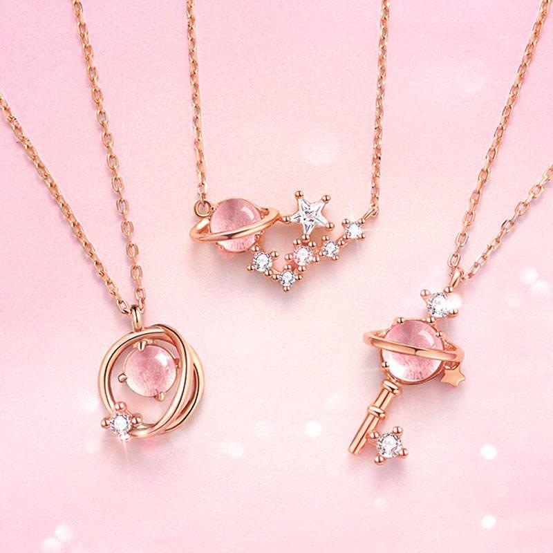 Best friend Necklace two Korean star key necklace girl student girl heart lock bone chain pendant girl couples birthday