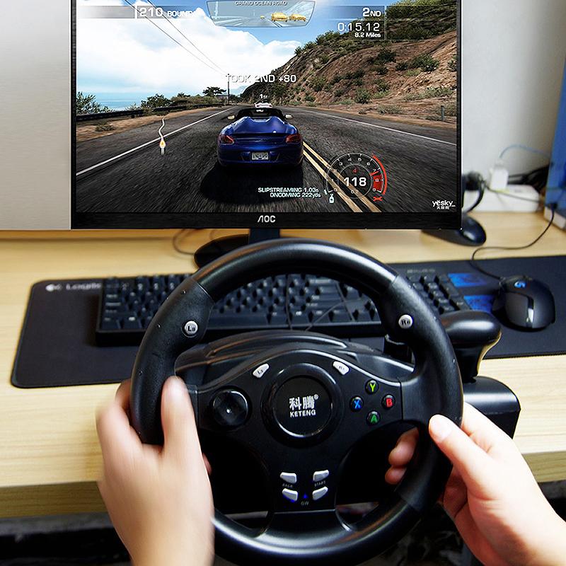 (用1元券)电脑赛车游戏方向盘模拟驾驶电视学车汽车PS4极品飞车PC欧洲卡车2