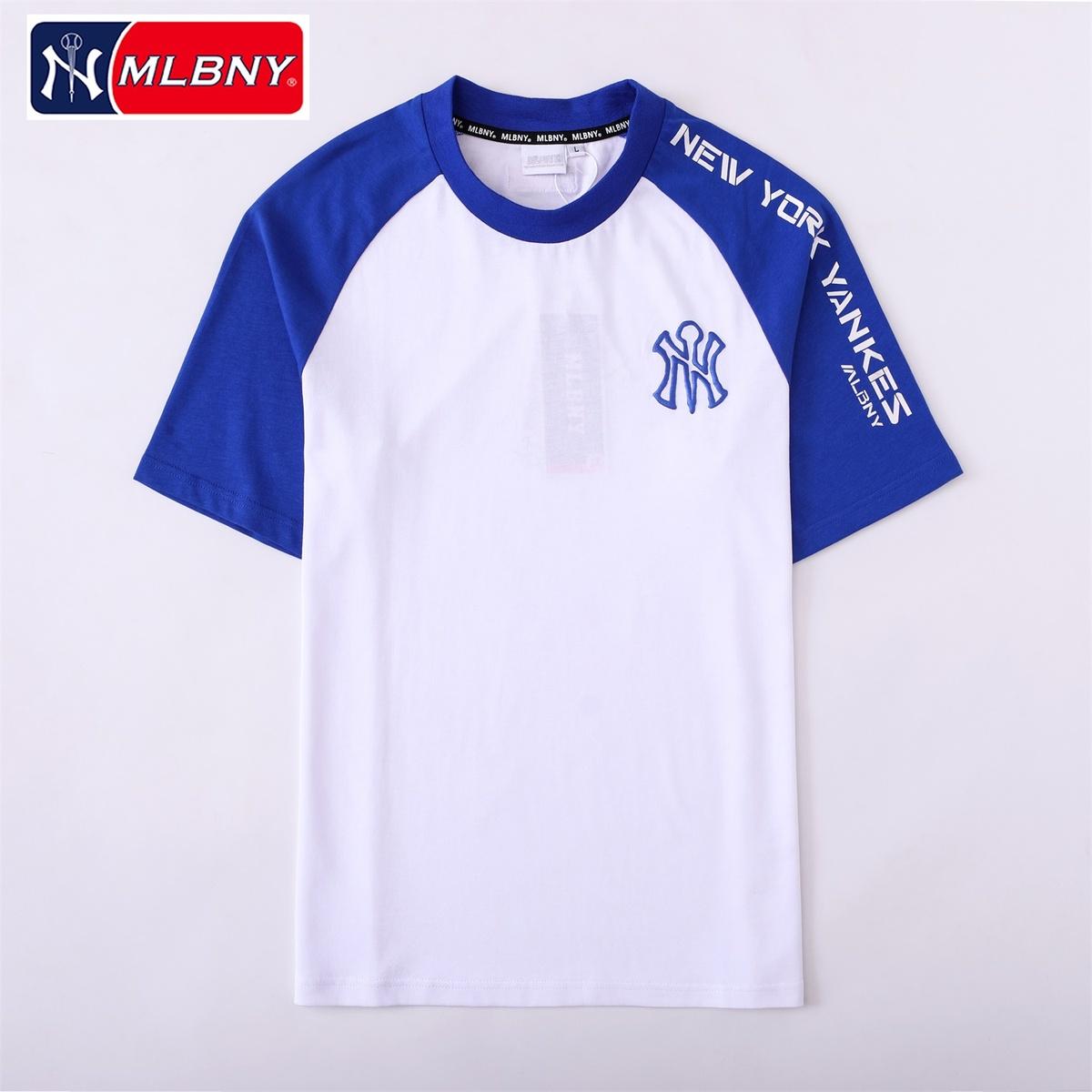 T恤男女宽松学生ins潮纯棉半袖体桖MLB NY上衣原创印花短袖打底衫包邮