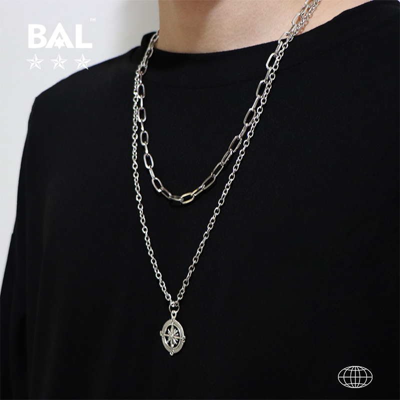 Balins Yuansu wind net red same ornament European and American men and women hip hop Necklace multi layer Long Necklace Pendant trend