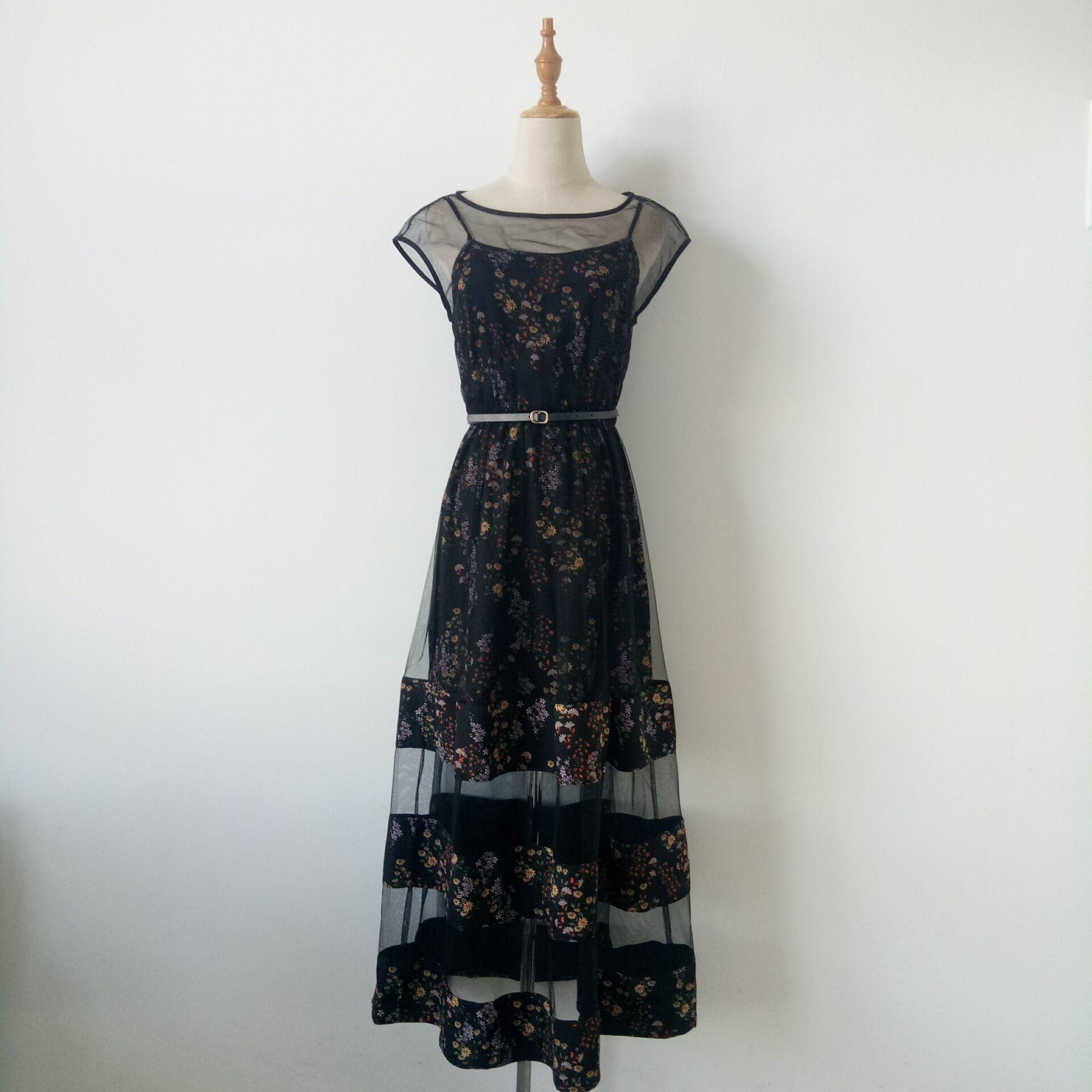 VERO TEX MODA 夏季新款拼接收腰长裙连衣裙31827B543/31827B565