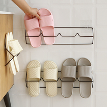 Bathroom Slippers rack walls wall-mounted type free punching toilet door rear rack home dormitory shoes storage artifact