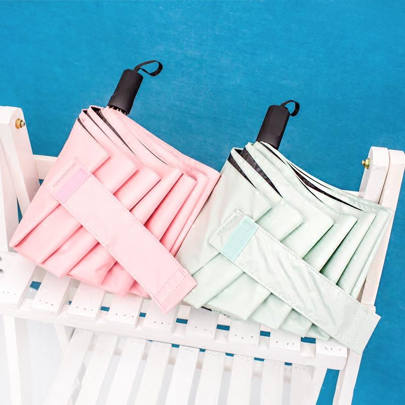 折叠韩国小清新晴雨两用自动太阳伞限7000张券