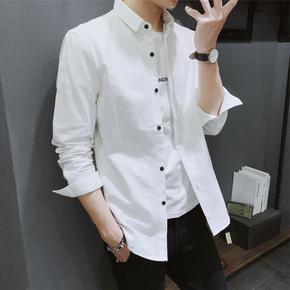 2020秋新款潮流前线威/鹏港风日系韩版男装黑牡/丹阿仕顿长袖衬衫