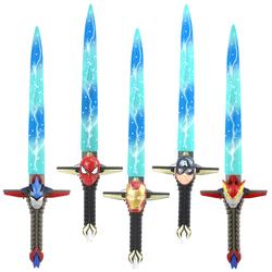 超人儿童宝剑变形金刚钢铁战士大黄蜂美国队长棒铠甲勇士发光玩具
