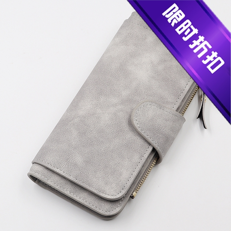 New style womens wallet long buckle large 3% discount multi Card Wallet fashion zipper hand bag two color fabric