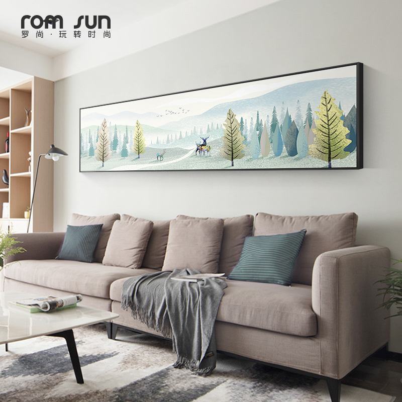 北欧轻奢卧室床头软装清新现代壁画