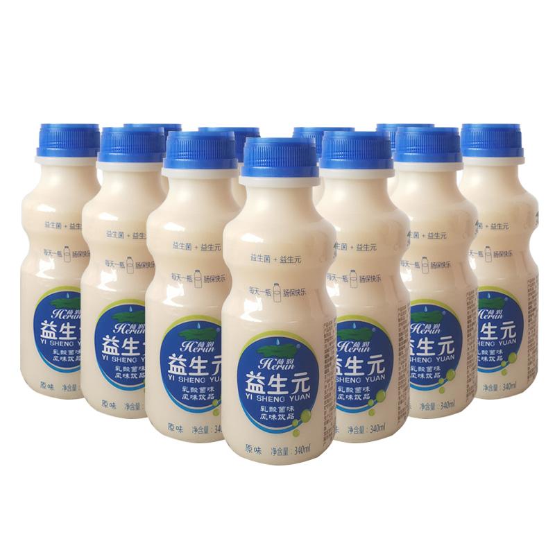 荷润益生元乳酸菌整箱风味牛奶饮品340mlx12瓶儿童饮料学生酸奶