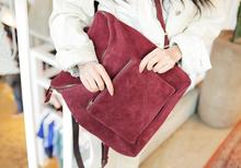 韩国新款时尚女包休闲皮绒磨砂百搭复古双肩包背包 8103#