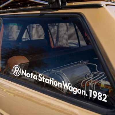 Sang Brigade 1983 car sticker Lahua Poussin surrounded by modified roof box luggage rack changed color crock suitable for Volkswagen