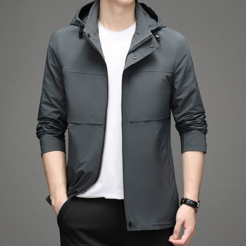 Jiumuwang official website 2021 autumn and winter leisure new jacket mens medium and long hooded detachable youth jacket men