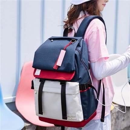书包女韩版高中双肩包2019新款百搭初中学生校园大容量背包电脑包